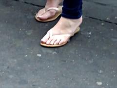 Pink Soles & Toe Pedicure In Sandals