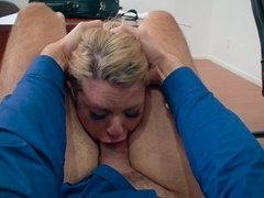 Lady got provocative with manager's harassment and was fucked