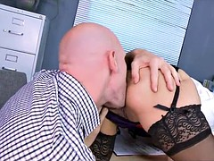 Hot Brunette Secretary Needs a Good Pounding at Work