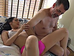 Tiny Latina Kat Cummings Fingered And Fucked By Mature Lover