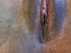 Noire, Noir ébène, Masturbation, Chatte, Webcam