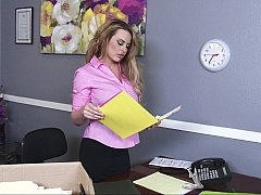 Большие сиськи, Блондинки, Белье, В офисе, Чулки