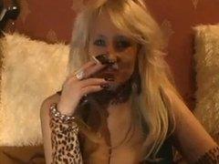 Smoking blonde talking dirty