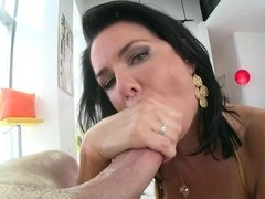 A hardcore chick with a pretty face is doing a blow job and anal
