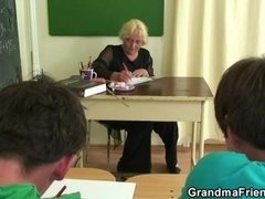 Watch dirty threesome with old teacher