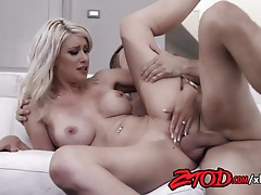 Gorgeous Blonde MILF Riley Jenner Fucks a Young Stud