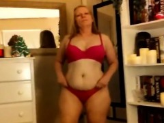 Trashy mom-in law gets his penis