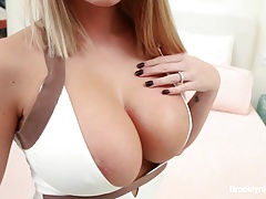 Curvy bombshell Brooklyn takes on a massive BBC!