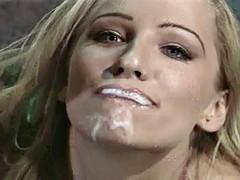 creams her face