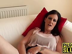 Hot and amazing brunette Missy K finger fucking her cunt