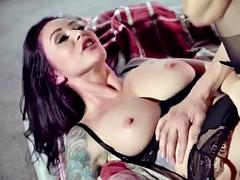 Milf got her nipple suck while on top of Xander Corvus
