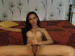 Sexy Petite Tranny Masturbating Hard