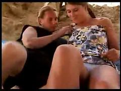 Non-professional schoolgirl making love on the farm