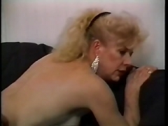 Huge Breasted Granny Seduces A Young and fresh Man & Has Him Fucking