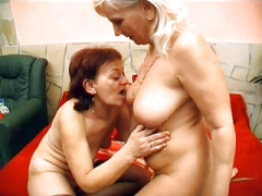 Lesby Grandmas Kissing And also Licking
