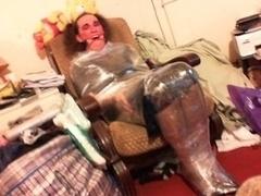 TV Nurse Clingfilmed Ring Gag