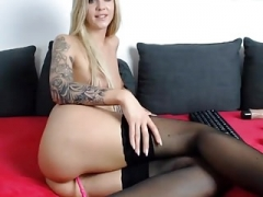 Blonde jerk off hard and moreover squirt