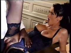 Brunette In Lingerie Take A Black Cock In Tooshie Backdoor Troia