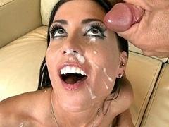 Sperma in gezicht