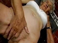 Unshaved Granny with sextoys