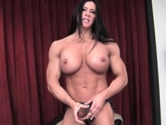 FemaleBodybuilder Angela Salvagno Loves Having A Love tool