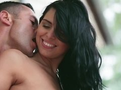 Young couple prefers copulation in the romantic environment