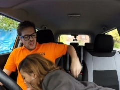 Ebony Kiki gave a first-class Oral sex and furthermore pounded by driving instructor