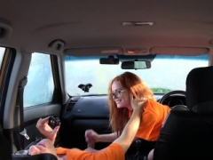 Fake Driving School Swotty ginger student