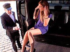ブロンド, バス, 車, チェコ, ドレス, ヨーロピアン, 公共, スカート