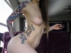 Flirtatious Nerdy Gets Her Tight Pink Fuck hole Wet