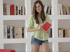 18 años, Asombroso, Morena, Universidad, Inocente, Bragas, Desnudarse, Estudiante