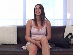 Stunning brunette loves longer erotic interviews