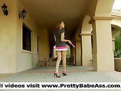 Karly teen charming sexy and additionally funny shows her charming boobs