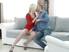 18 Videoz - Doris - Red dress for rectal debut