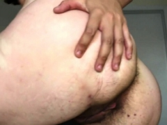 Old with shaggy pussy ass fingering on web camera