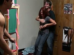 18, 素人, 共学, カップル, 彼女, ハードコア, 赤毛, ティーン
