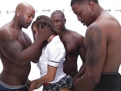 Anal, Chica, Verga grande, Interracial, Sexo fuerte