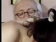Distinguished Aged Grandpa Getting Some Good Head