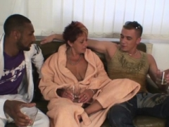 3some with two strangers and plus hot granny