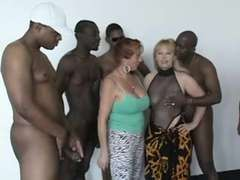 Amateur, Gorda, Grupo, Interracial