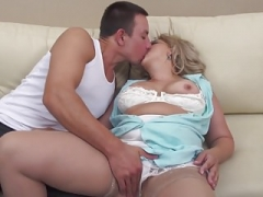Taboo sex with aged hairy mother and moreover son