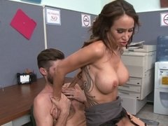 A sexy chick puts ass back into harassment in the office today