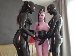 Bondage, Femme dominatrice, Allemand, Latex