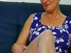 Granny In White Stockings...