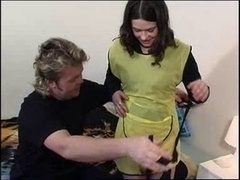 Glamorous cleaning girl loves penis in each and all her holes allotment 1of 4