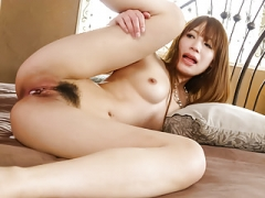 Ayaka Fujikita fucked by a couple of hunks in dirty trio