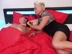 German mom Mandy Mystery wakes up son with fellation