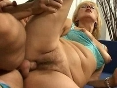 Horny Mom Dame Spreads Her...