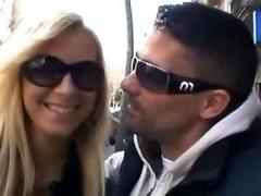 European Couple In Public