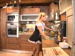 Sexy spanish maid deep throats dick and gets lovely athletic assfuck rear end fashion screwing